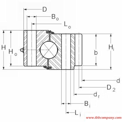 16294001 Slewing bearing (Internal gear teeth)