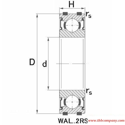 WAL 6001 2Z Deep groove ball bearing