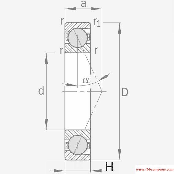 HCB7008-E-T-P4S Spindle Bearing