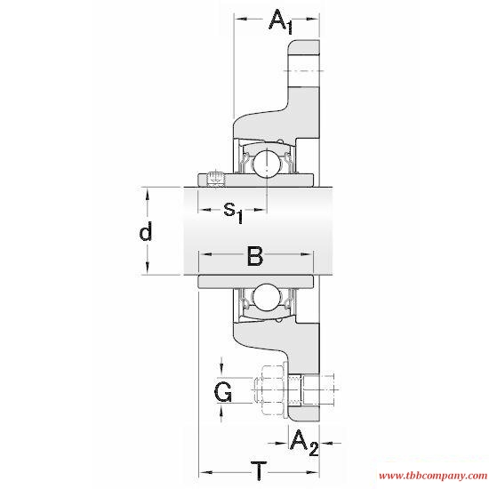 FYT 1.3/4 TF/VA201 Elliptical flange bearing units