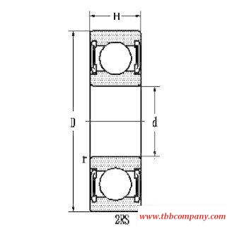6207E-2RS Deep groove ball bearing with seals or shields