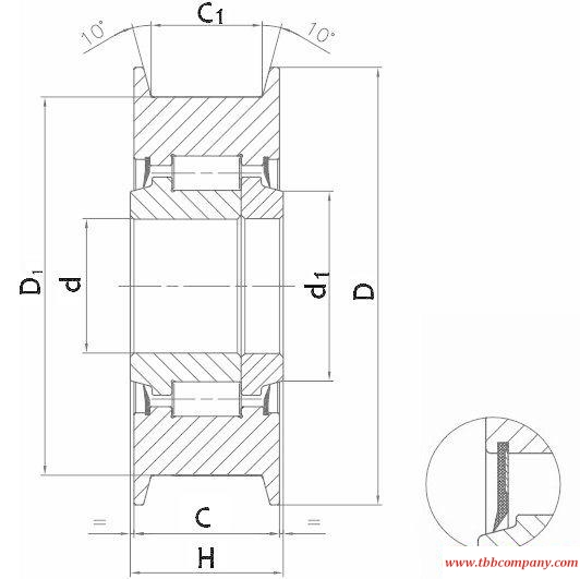 JDL110259122AT Sprocket bearing