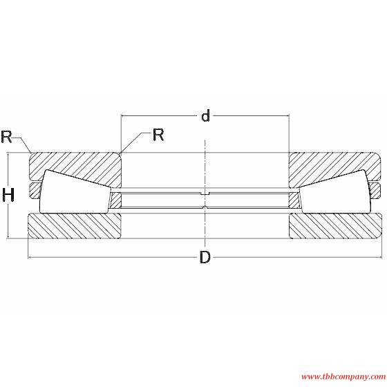 T-110237-F Tapered roller thrust bearing