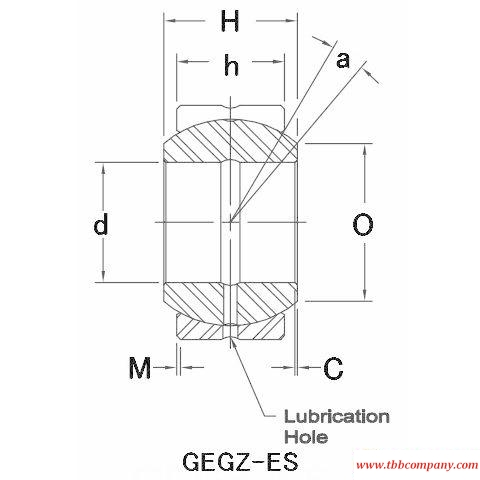 GEGZ028ES-2RS Plain bearing