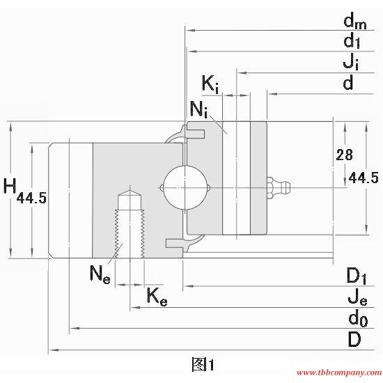 RKS.061.20.0414 Slewing bearing