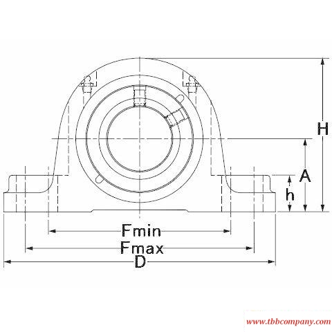 QAP10A050S Mounted spherical roller bearing