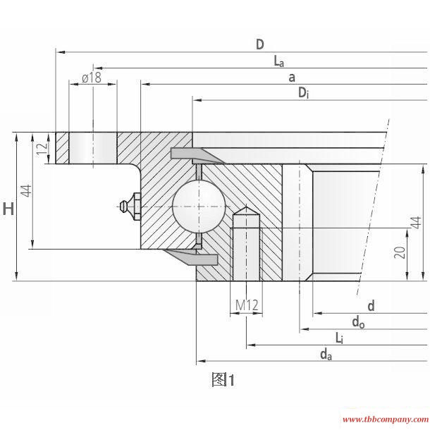 92-32 1255/1-06245 Slewing bearing (Internal gear teeth)