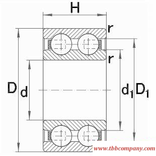 4307-B-TVH Double row deep groove ball bearing