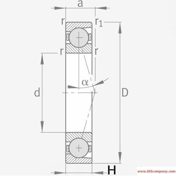 HCB71908-C-T-P4S Spindle Bearing