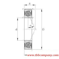 HCB71908-E-2RSD-T-P4S Spindle Bearing