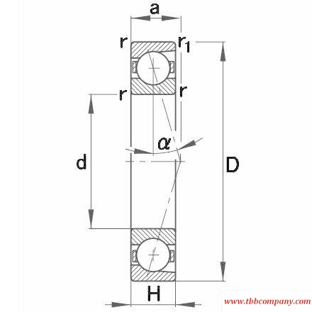 7096 C Spindle Bearing