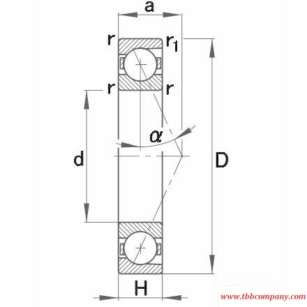 B7209-E-T-P4S Spindle Bearing