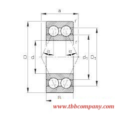 3309-BD Angular contact ball bearing