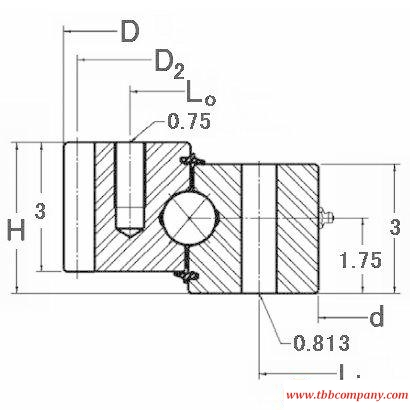 HT10-54E1Z Slewing bearing (External gear teeth)