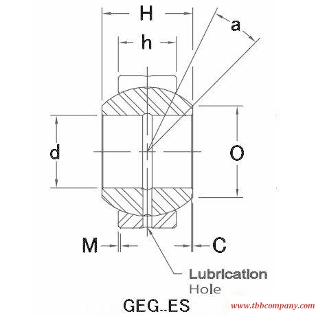 GEG110ES-2RS Plain bearing