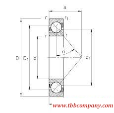 71810-B-TVH Angular contact ball bearing