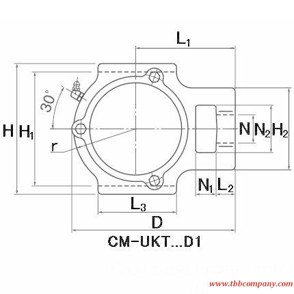 CM-UKT310SD1;HS2310 Inch size bearing units