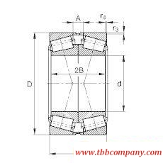 32234-A-N11CA-A350-410 Tapered roller bearing