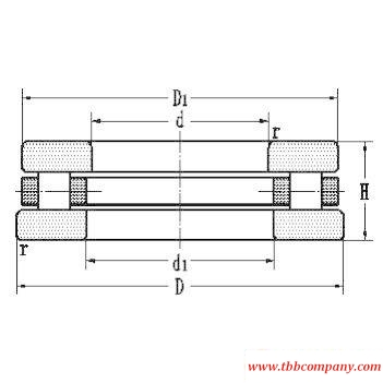 81192 Cylindrical roller thrust bearing