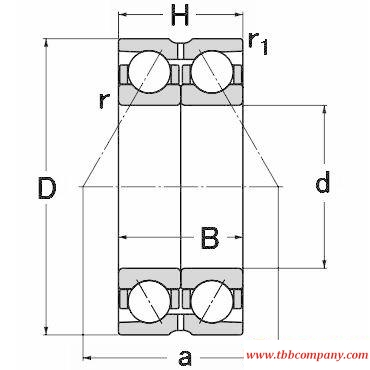 DE5211 Double row angular contact ball bearing