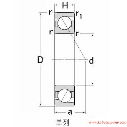 SF9211 Angular contact ball bearing