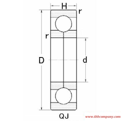 QJ1938 Four-point angular  contact ball bearing