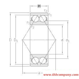 3311DMA Double row angular contact ball bearing