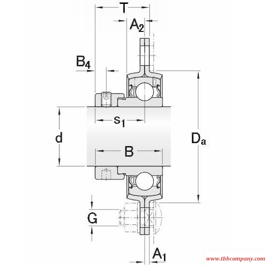 PFD 1.1/2 FM Triangle flange bearing units