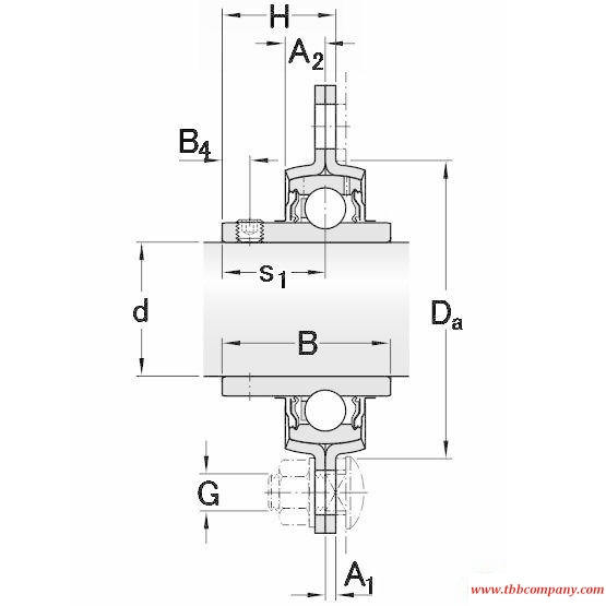 PFD 1.1/2 TF Triangle flange bearing units