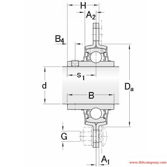 PFD 1.1/4 TR Triangle flange bearing units