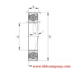 HCB71917-C-2RSD-T-P4S Spindle Bearing