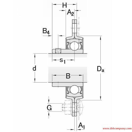 PFD 20 RM Triangle flange bearing units