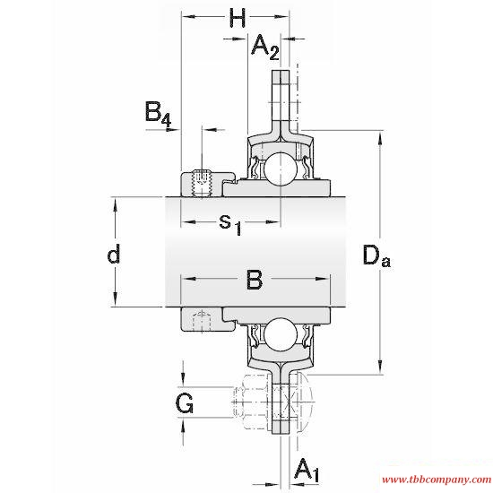 PFD 20 WF Triangle flange bearing units